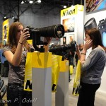 Testing the Big Glass at the Nikon booth