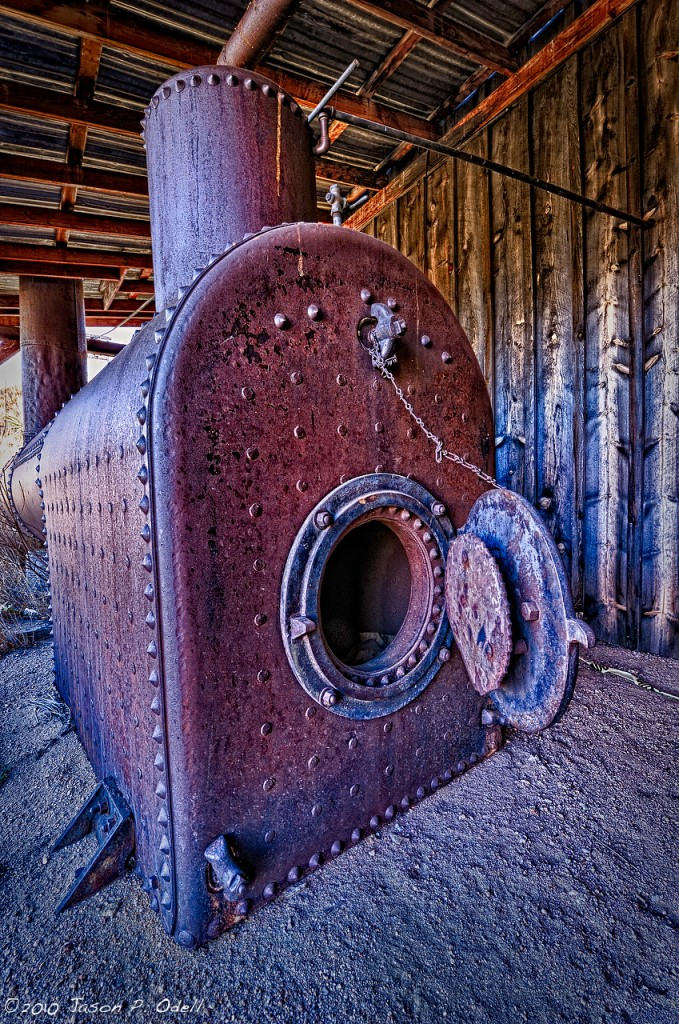 Rusty Furnace Hdr Style Jason P Odell Photography