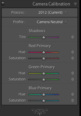 The Camera Calibration panel in Lightroom allows you to choose different starting points for your RAW conversions, depending on your camera.