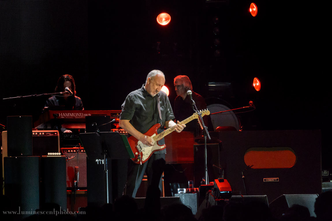 Pete Townshend of The Who performs live in Denver, Colorado on February 12, 2013.