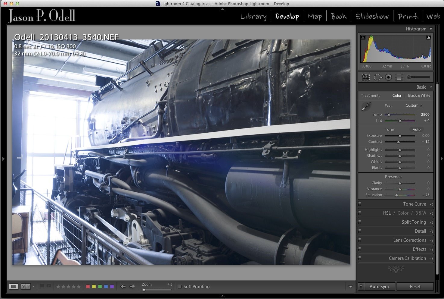 "I used the ""Auto Sync"" feature in Lightroom's Develop module to process all five images simultaneously."