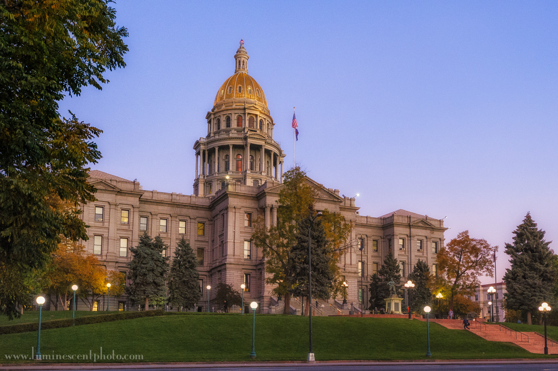 Colorado State Capitol, Denver, CO. Enhanced with Color Efex Pro 4.