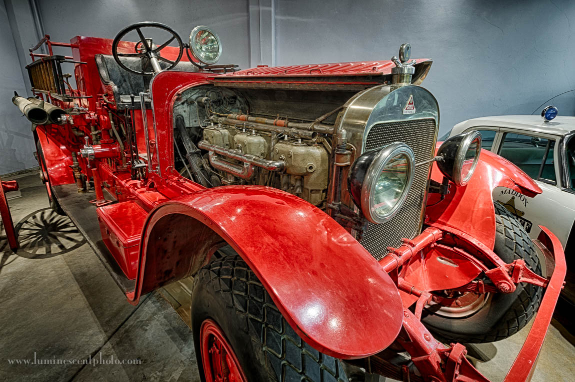 Antique Fire Engine at the Forney Museum of Transportation in Denver, Colorado. HDR image processed in HDR Efex Pro 4.