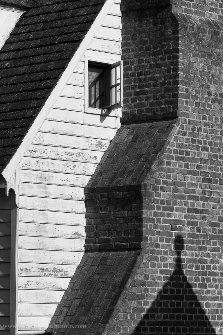 Historical building in Colonial Williamsburg, VA. Nikon D800e; monochrome conversion with Nik Silver Efex Pro 2.