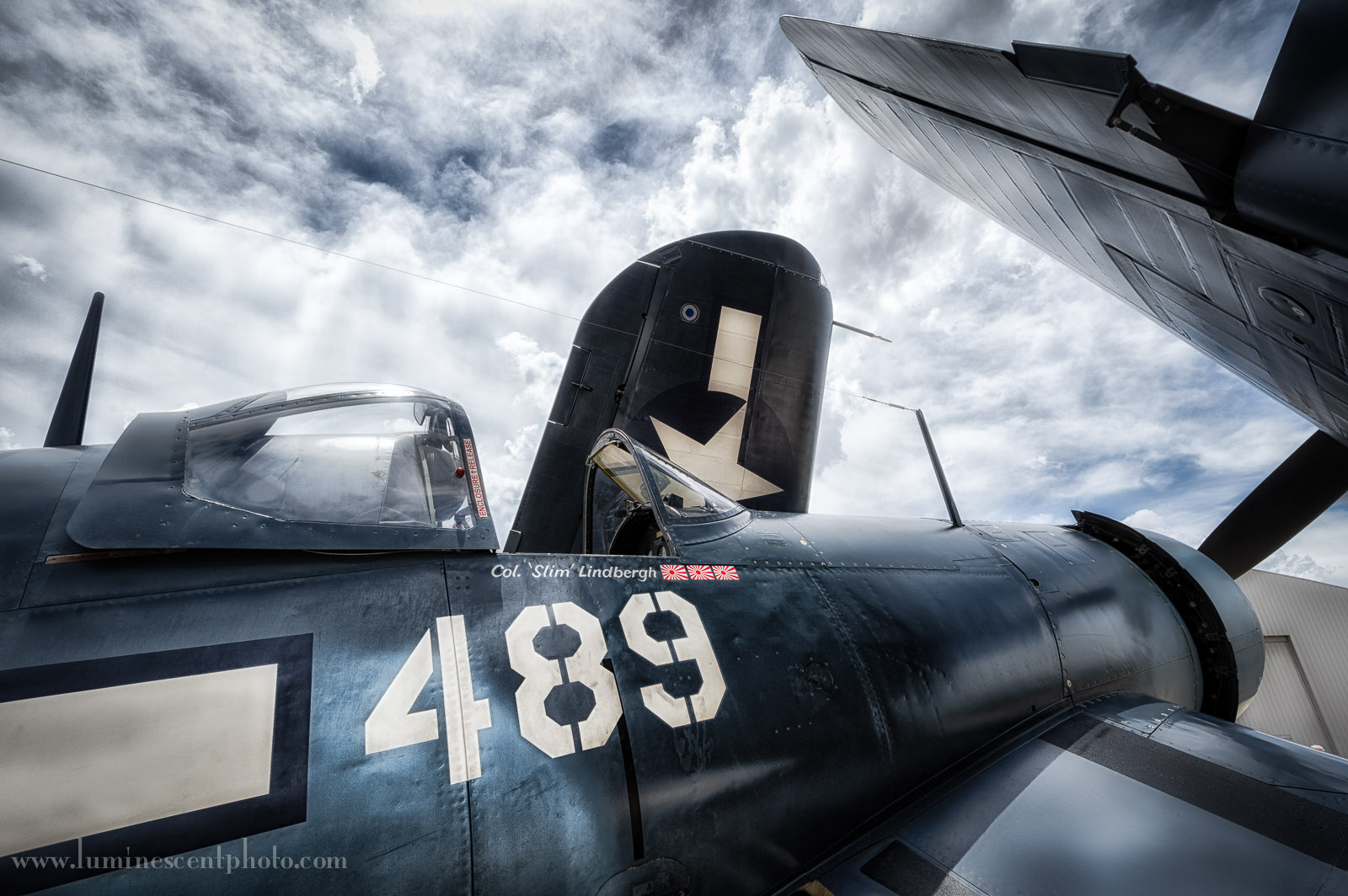 Commemorative Air Force F4U Corsair visiting Colorado Springs, CO.