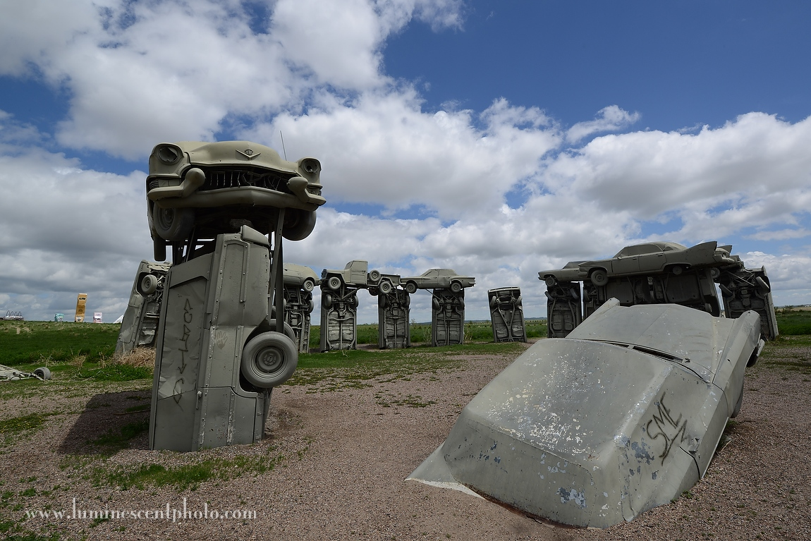 On the way to South Dakota, we stopped at Carhenge.