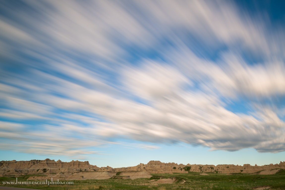 Badlands, South Dakota. 130s exposure using a Singh-Ray 10-stop ND filter