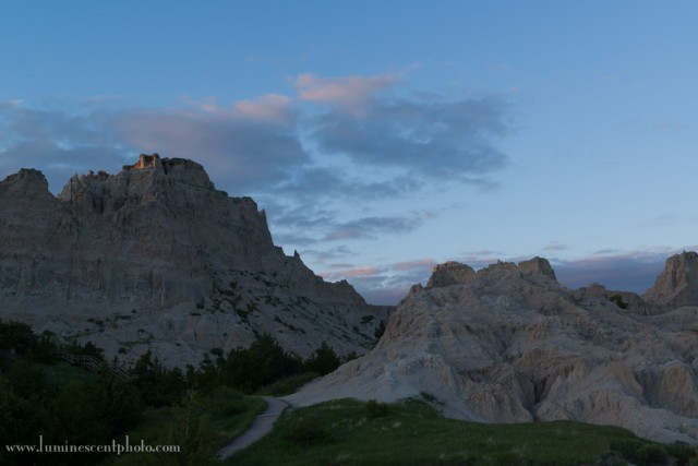 Sunset in the Badlands; as-shot image before processing.