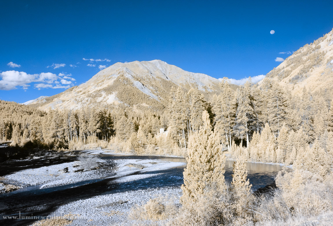 Independence Pass, Colorado. Digital Infrared image captured with a Nikon 1 V1 camera 590nm conversion.