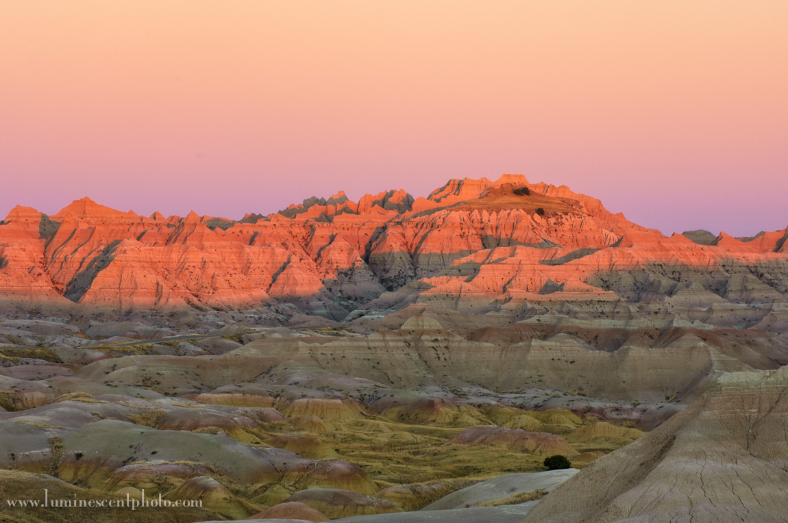 Badlands in the fall.
