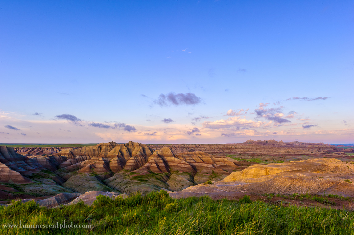 Badlands in the spring.