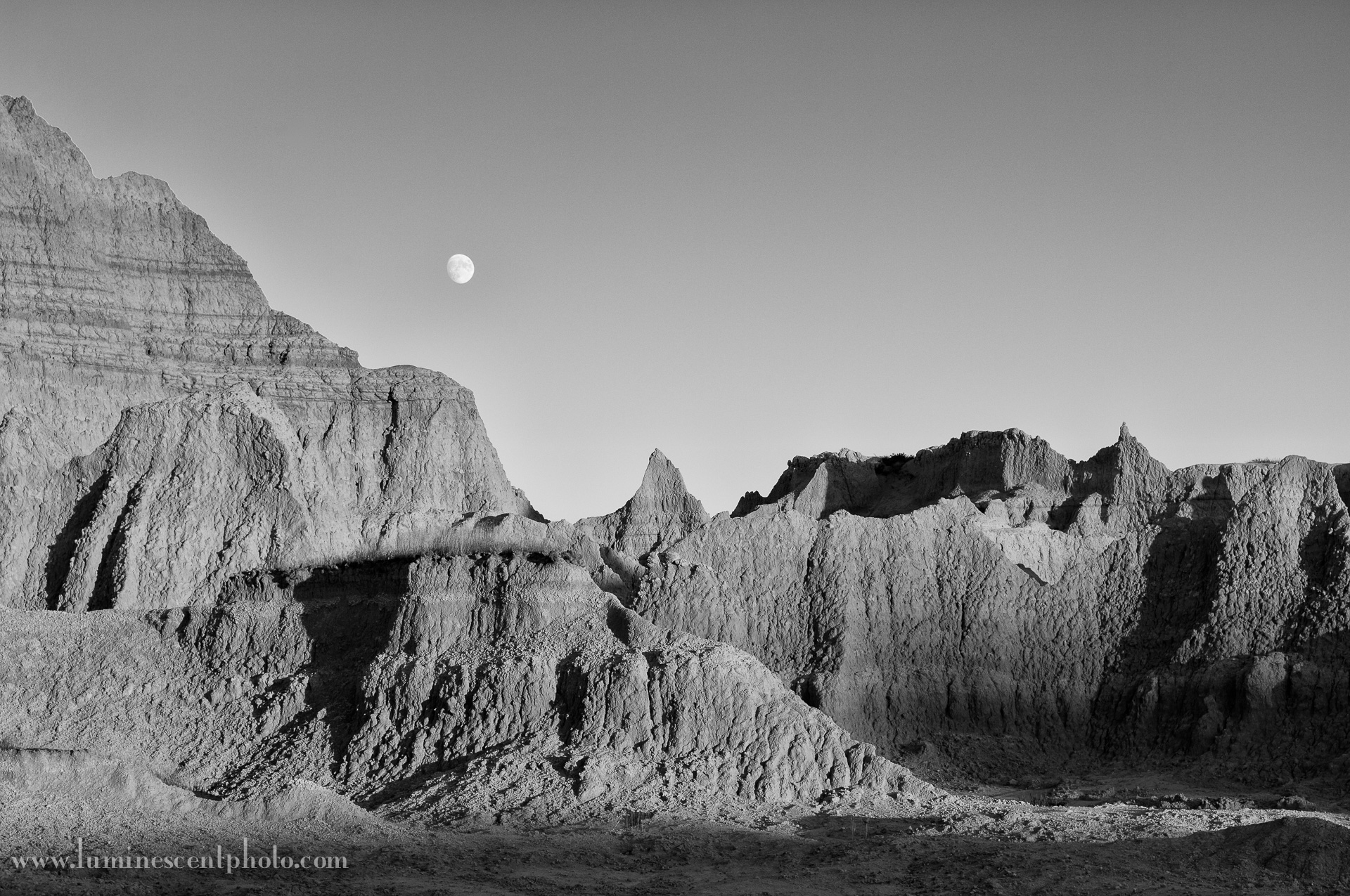 """Moonscape."" Nikon D2x with 17-55mm f/2.8 AFS DX lens, processed in Silver Efex Pro 2."