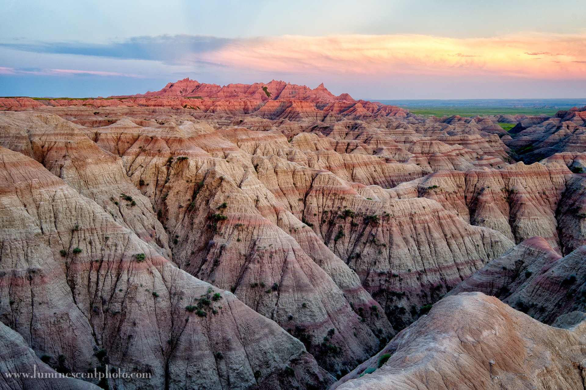 Blue hour in the Badlands of South Dakota.