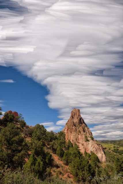 Summer clouds, Garden of the Gods Park, Colorado Springs, CO. Nikon D810 with 24-70mm f/2.8 AFS G Nikkor lens.