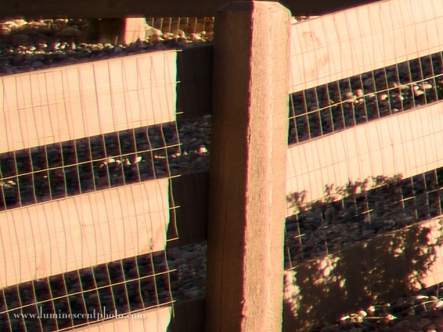 The left side of the frame shows mild green fringing (CA removal disabled).