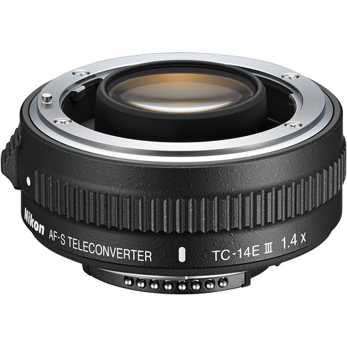 The Nikon TC-14EIII has been completely redesigned and is compatible with select Nikon telephoto lenses.