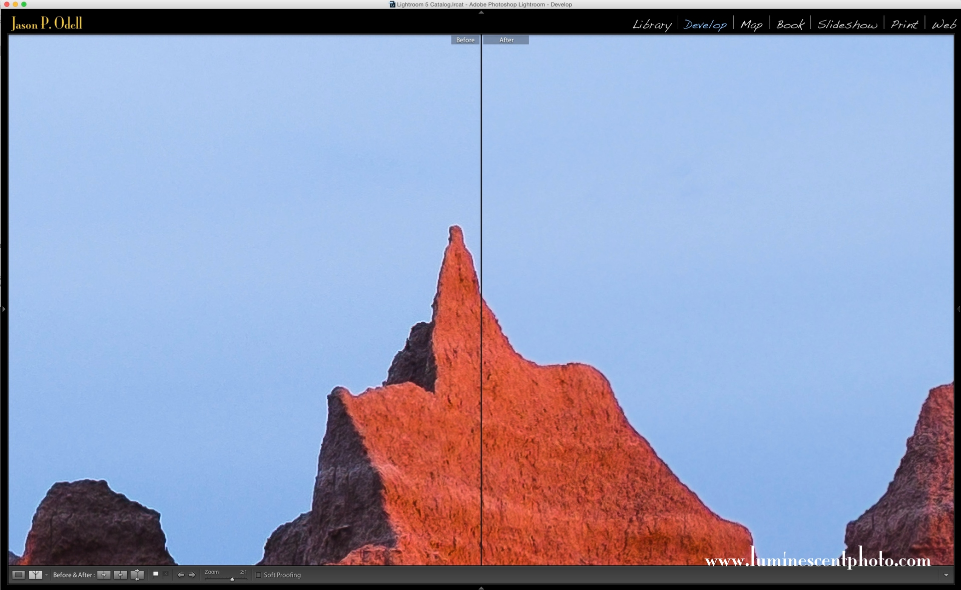 Learn to eliminate sharpening artifacts on your images in Lightroom.