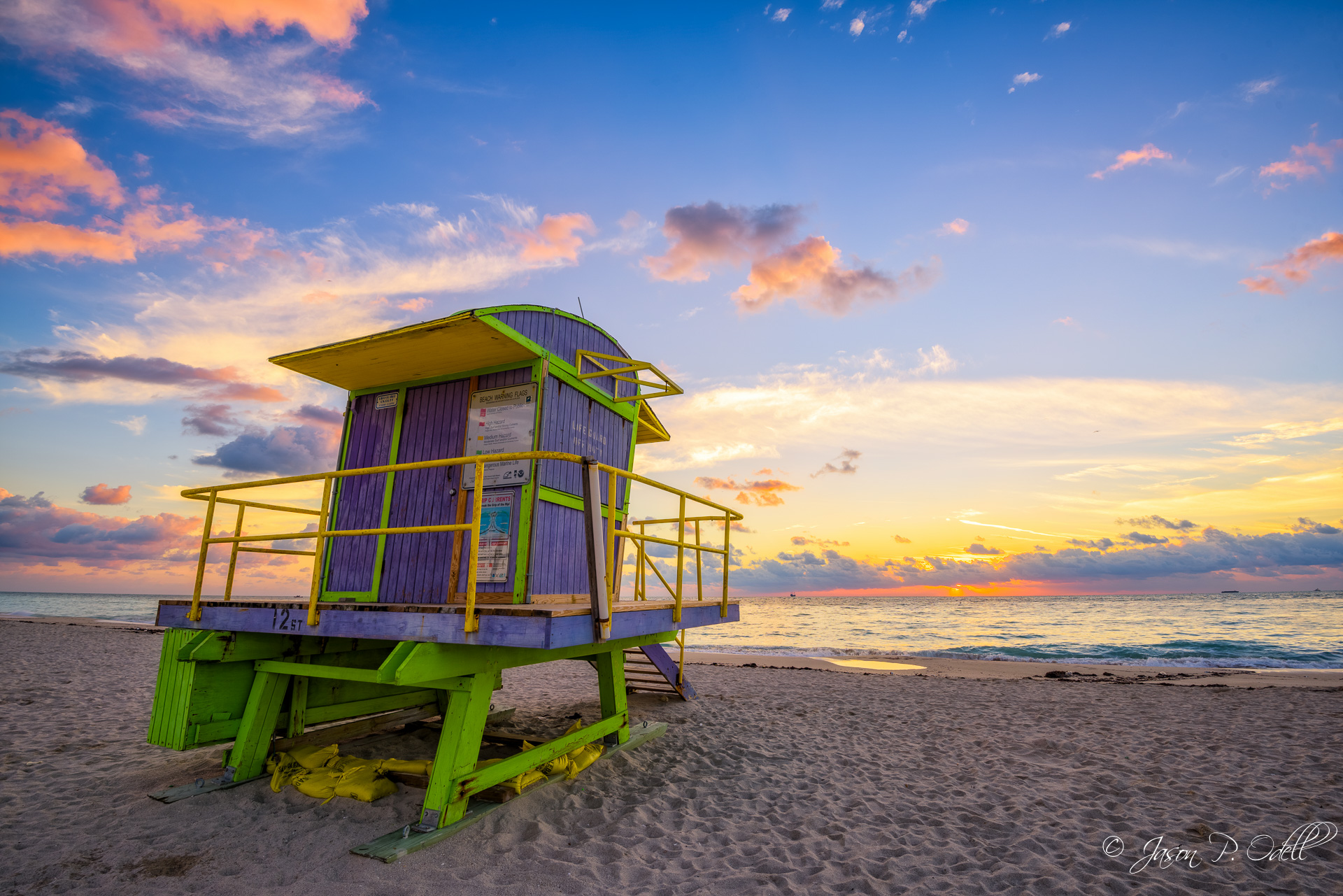 The iconic lifeguard stands on South Miami Beach are just one of the many subjects we will explore there during our Miami Beach Art Deco instructional photo tour October 12-16, 2015.