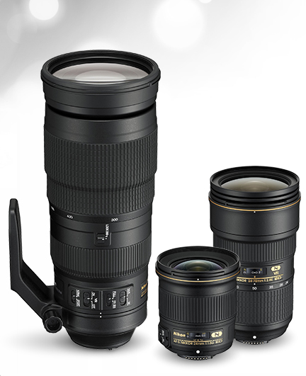 Three new Nikkor lenses were announced on August 4, 2015 (Image courtesy of Nikon USA)