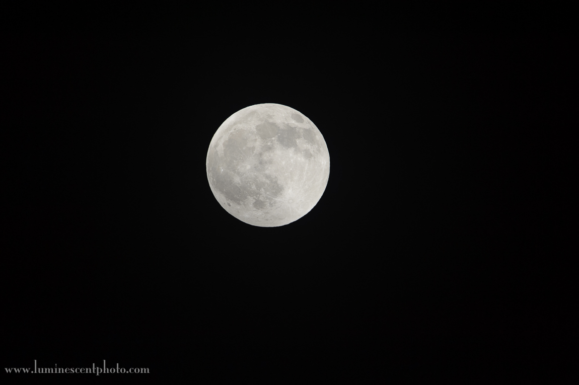 Even with my 600mm lens and 1.4x teleconverter, the moon doesn't take up that much of the frame with a 35mm-format camera.