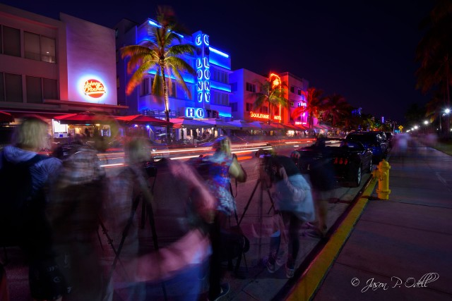 Deb Sandidge gives tips on shooting car light trails on Ocean Drive.