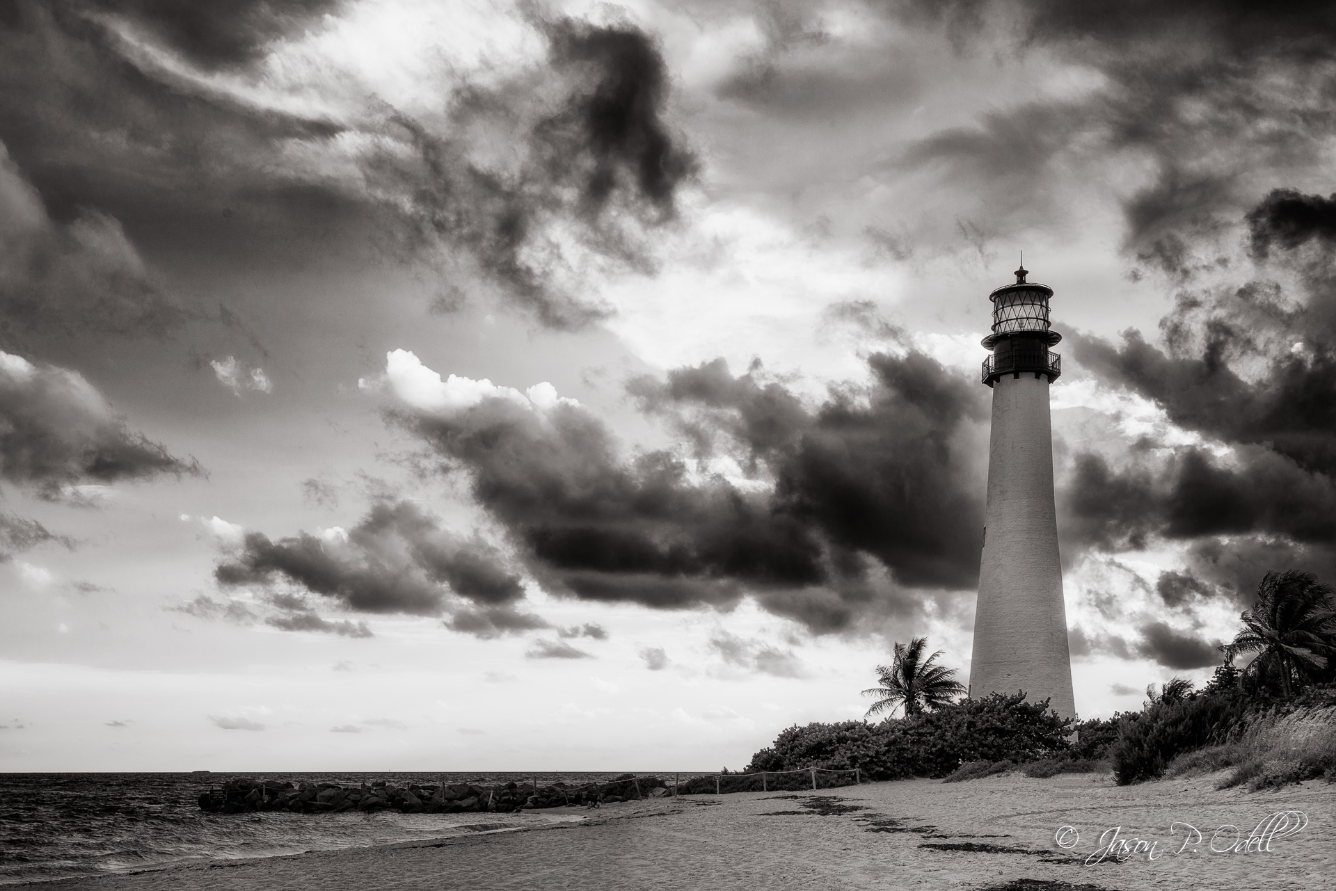 Approaching storm at the Cape Florida Lighthouse, Bill Baggs State Park, FL
