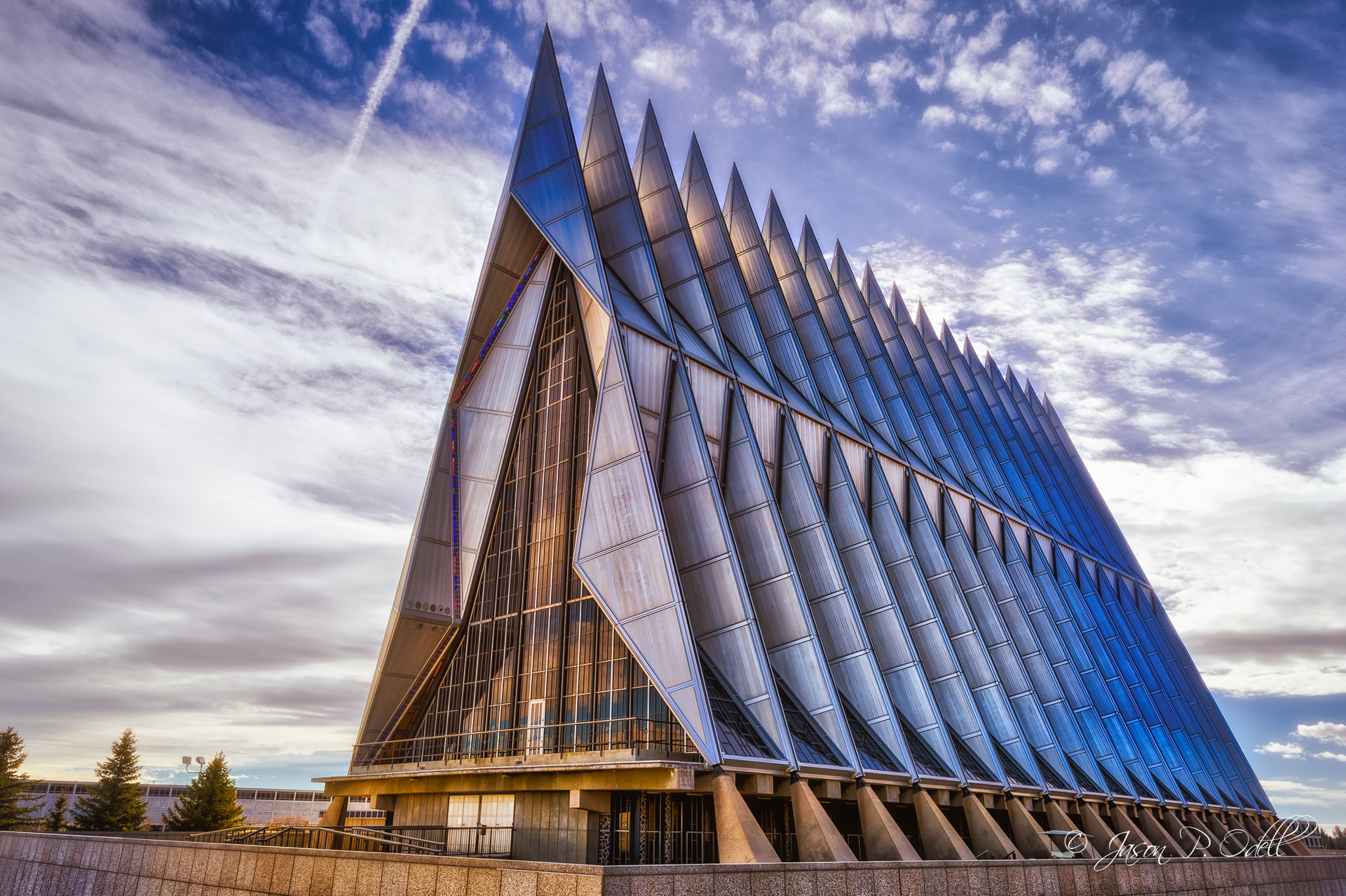 United States Air Force Academy Cadet Chapel in HDR