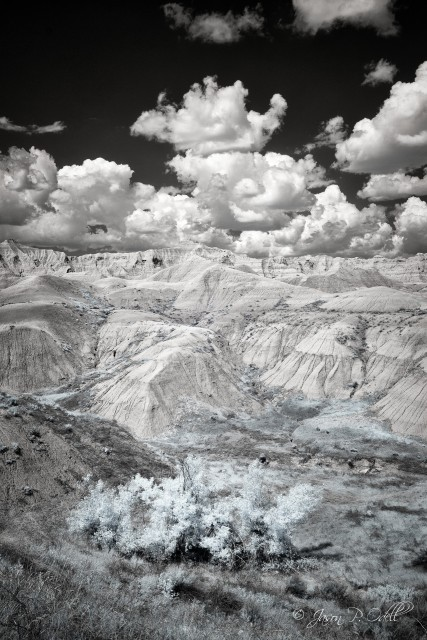 South Dakota Badlands in infrared