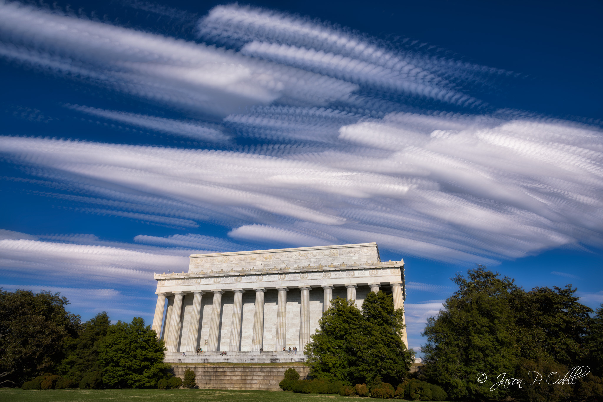 Clouds passing over the Lincoln Memorial, Washington, D.C.