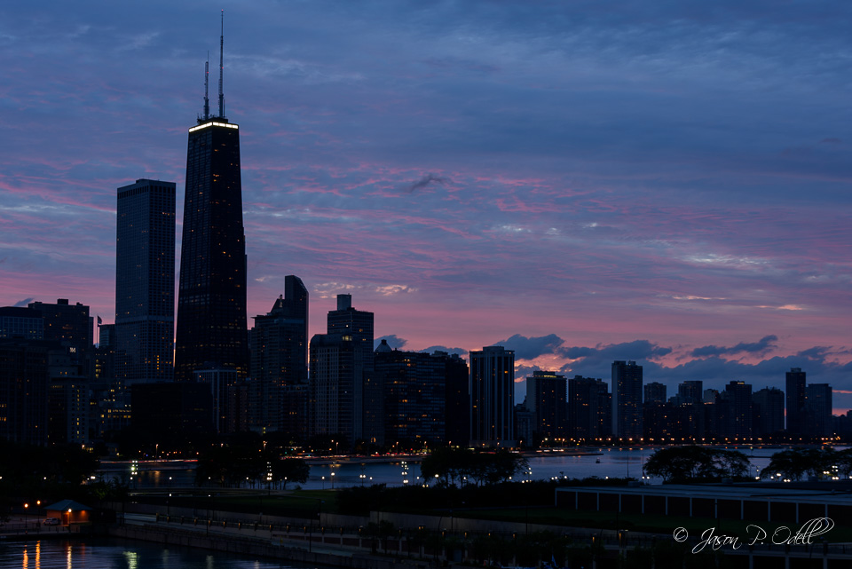 Chicago skyline, processed using as-shot (Nikon Standard) settings.