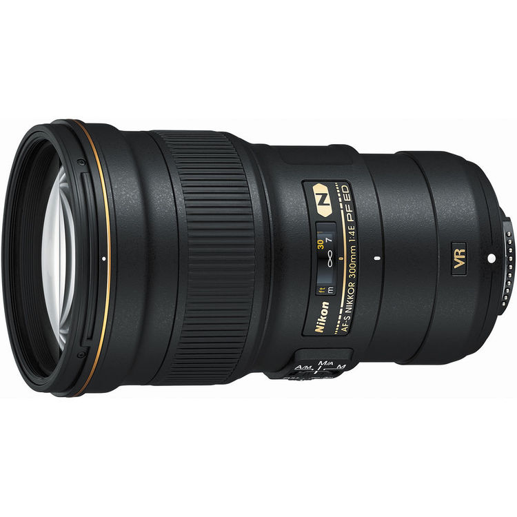 The Nikon AF-S 300mm f/4E PF ED VR Nikkor lens is perfect for hand-held shooting.
