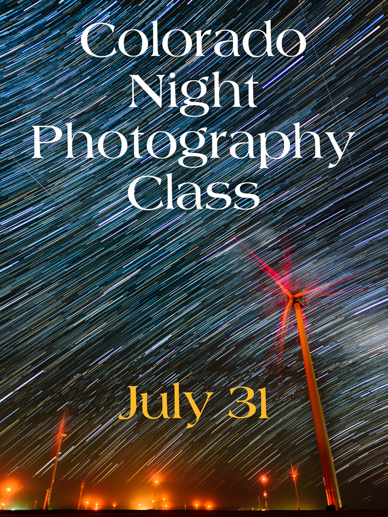Join me July 31st to photograph the night sky!