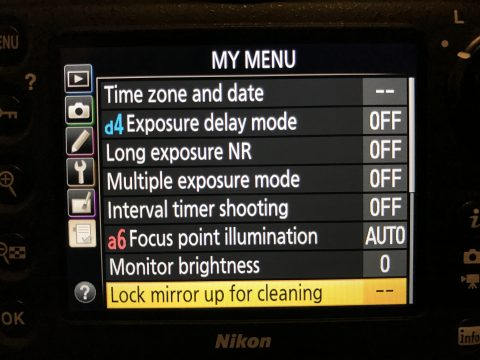The My Menu item in Nikon DSLRs lets you save frequently used items.