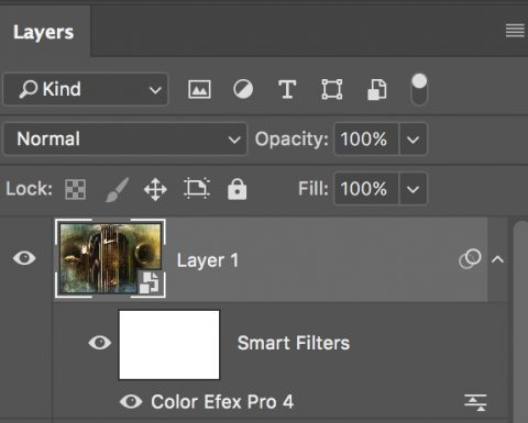 If your plug-ins support Smart Filters, you can apply them non-destructively on Smart Object layers.