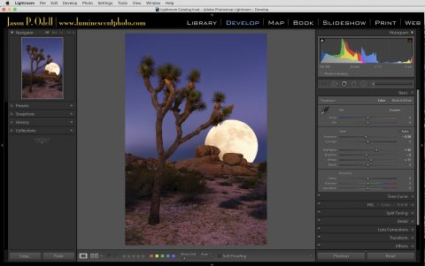Use the Lightroom Develop Module to non-destructively add finishing adjustments, like sharpening, to your Photoshop files.