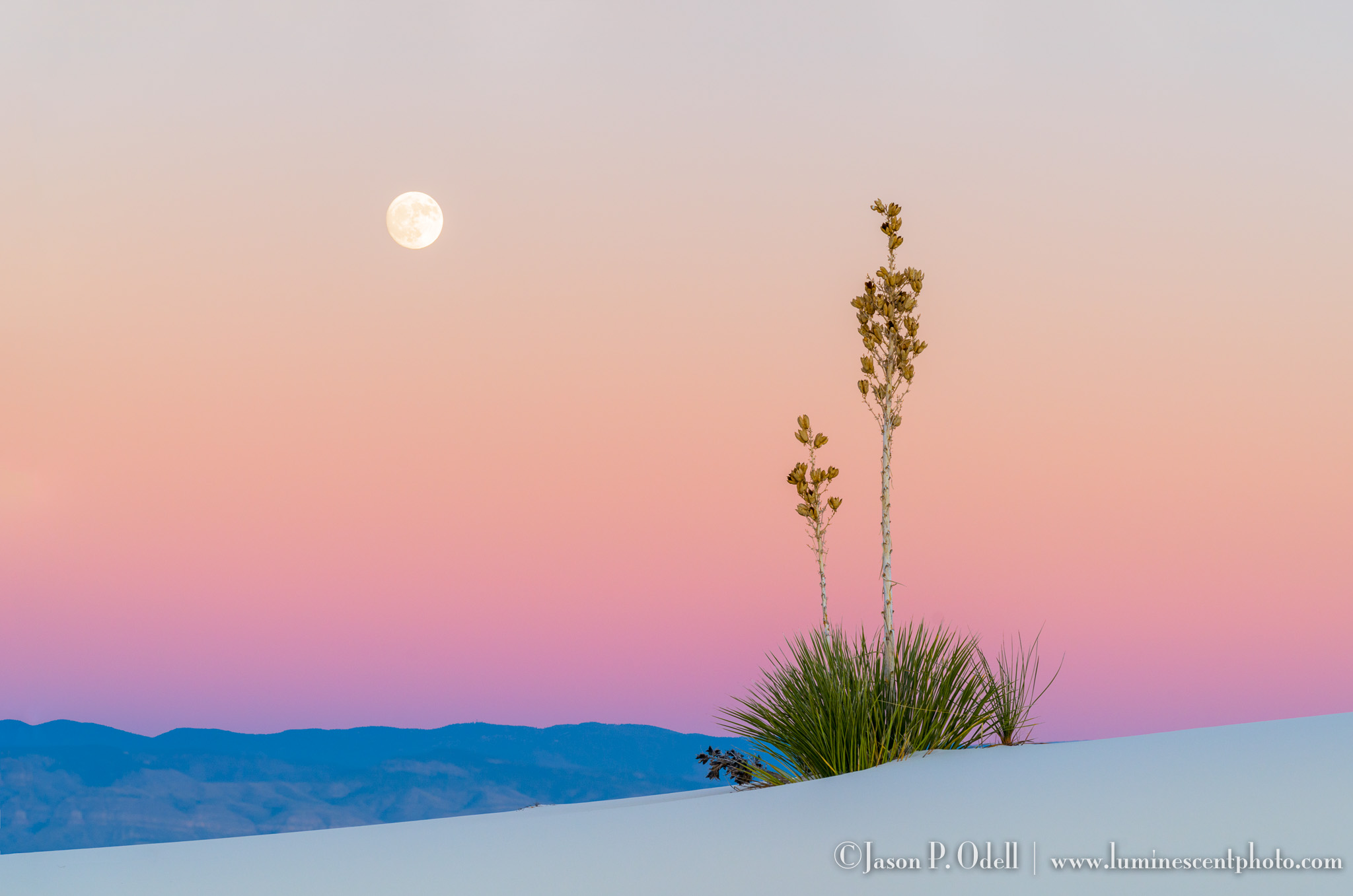 White Sands Moon