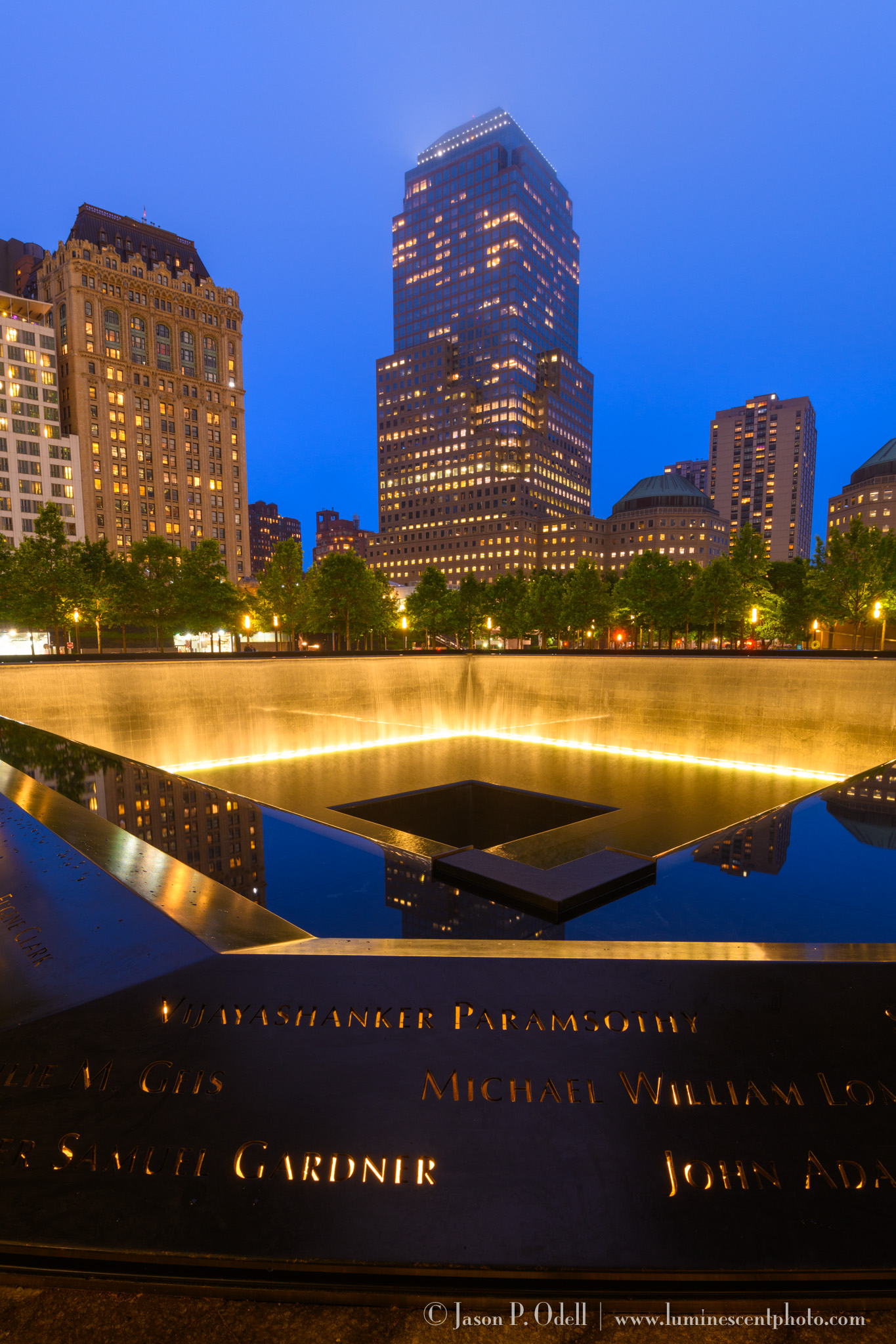 WTC Memorial at Night