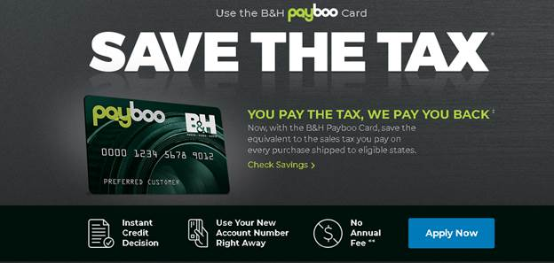 B&H PayBoo card